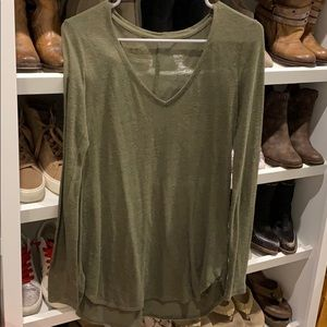 Mossimo olive green long sleeve top size XS